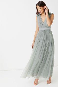 Buy Maya Petite Tulle Maxi Dress from the Next UK online shop Maya, Pink Maxi, Floor Length Gown, Tadashi Shoji, Petite Dresses, Tulle Dress, Lace Dresses, Party Dresses For Women, Green Dress