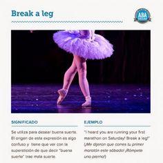 """""""Break a leg"""""""