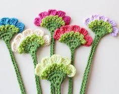 Flower bookmark Handmade crochet bookmark Book by PetyaTwinkles