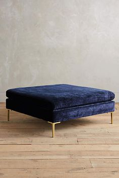 in lieu of a coffee table?? | Slub Velvet Edlyn Grand Ottoman