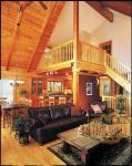 True North Log Homes Aspen III Interior