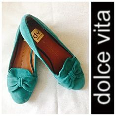 ❤️ Dolce Vita Lulu Ballet Flats ❤️  Beautiful Dolce Vita Ballet Flats  Teal suede shoes  look gorgeous with most colors (including salmon)! Clean and in nice condition. Dolce Vita Shoes Flats & Loafers