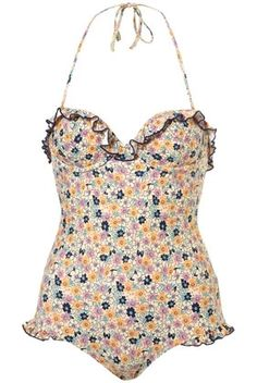 Multi Floral Bloom Ruffle Swimsuit - Swimwear - Clothing - Topshop USA - StyleSays
