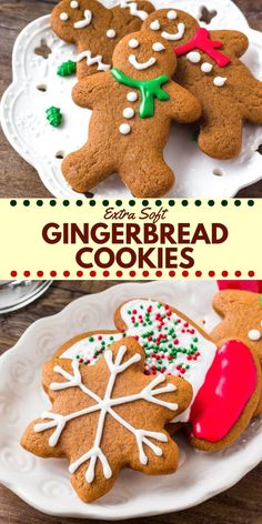 These soft gingerbread cookies are a must for the holidays. They're perfectly spiced with soft centers and the perfect gingerbread taste. The best gingerbread men I've ever tried! #gingerbread #gingerbreadmen #christmas #baking #holidays #cookieexchange #gingerbreadcookies Christmas Deserts, Thanksgiving Desserts, Holiday Desserts, Holiday Baking, Christmas Parties, Holiday Recipes, Christmas Gingerbread Men, Christmas Time, Christmas Food Treats