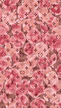 Pink red watercolour floral LV Vuitton iphone wallpaper phone background lock screen