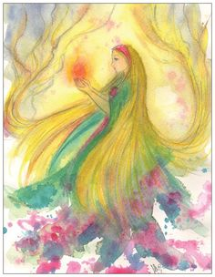 Imbolc postcard by silviadotti on Etsy