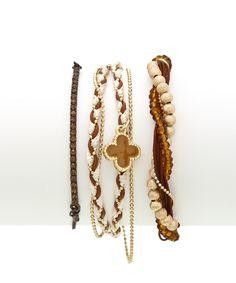 Victorian Vixen Bracelet Set - Brown, Tan, and Gold  https://shoplately.com/product/17387/victorian_vixen_bracelet_set_brown_tan_and_gold?u=0awcg20y
