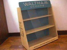 Glass Case 企業物WALTHAMウォルサム時計ガラスケース60年代アンティーク インテリア 雑貨 家具 Antique ¥31000yen 〆08月17日