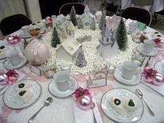Vintage Christmas table decor