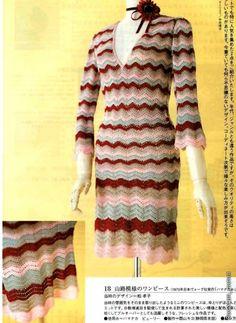 Vestido del patrón de crochet Zigzag. Debate sobre LiveInternet - Servicio rusos Diarios Online