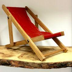 Vintage model of folding beach chair