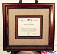 Money to have my college and seminary diplomas framed