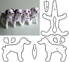 Eu Amo Artesanato: Cachorro com molde Felt Crafts Patterns, Plushie Patterns, Animal Sewing Patterns, Dog Crafts, Sewing Crafts, Sewing Projects, Teddy Bear Sewing Pattern, Dog Pattern, Sewing Stuffed Animals