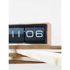Leff Copper Brick 24 Hr Clock (£299) ❤ liked on Polyvore featuring home, home decor, clocks, digital clock, digital display clock, holly's house, retro flip clock and lcd clock