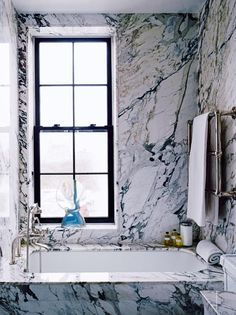 House tour: a finely tuned classic Manhattan apartment: The marble bathroom. This home originally appeared in the NOvember/December 2015 issue of Vogue Living. YOU SHOULD ALSO SEE: A Manhattan townhouse reimagined for family life cozybathroom Beautiful Bathrooms, Modern Bathroom, Small Bathroom, Cozy Bathroom, Marble Bathrooms, Bathroom Goals, Bathroom Fixtures, White Bathroom, Bathroom Interior Design