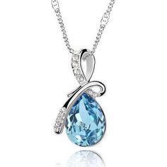 Enkelin kyynel -kaulakoru – Meren sininen  Korun tilaus- ja hintatiedot löytyvät osoitteesta: http://www.samaskoru.fi/tuote/enkelin-kyynel-kaulakoru-meren-sininen/  #korut #kaulakoru #jewelry #necklace #fashion  www.samaskoru.fi