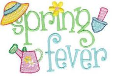 Spring Fever 2 is a single embroidery design from the Spring Fever design set. Applique Embroidery Designs, Free Machine Embroidery Designs, Embroidery Fonts, Custom Embroidery, Embroidery Thread, Embroidery Ideas, Brother Dream Machine, Spring Shower, Spring Fever
