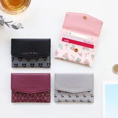 Iconic Pochette pattern card case pocket wallet by ICONIC. The pochette card case is a well made and lovely simple card wallet. Leather Wallet Pattern, Small Leather Wallet, Leather Gifts, Pocket Wallet, Card Wallet, Purse Wallet, Card Case, Card Patterns, Wallets For Women