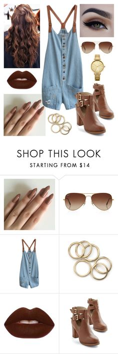 """""""Untitled #267"""" by asgardianka on Polyvore featuring Rayban, WithChic, Lime Crime, Seychelles and Oasis"""