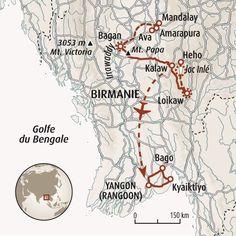 Circuit carte Birmanie : Voyage en terre d'or