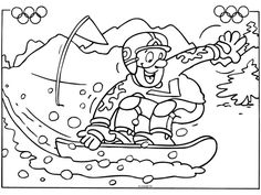 Kids Olympics, Winter Olympics, Coloring Sheets, Coloring Pages, Parchment Design, School Organisation, Winter Olympic Games, Kids Church, Coloring For Kids