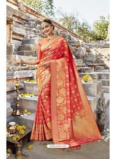 5b2107b392 orange  linen  cotton  banarasi  saree