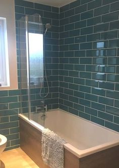 Metro Teal Wall Tile from Tile Mountain only per tile or per sqm. Order a free cut sample, dispatched today - receive your tiles tomorrow Bathroom Wall, Bathroom Interior, Small Bathroom, Bathroom Ideas, Attic Bathroom, Bathroom Cabinets, Metro Tiles, Teal Walls, Layout