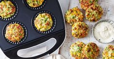 We& made family favourite zucchini and haloumi fritters even easier by cooking them in a Kmart pie maker. They're perfect for dinner or packed in the lunch box. Quick Lunch Recipes, Quick Healthy Lunch, Healthy Lunches, Dinner Recipes, Just Pies, Fairy Bread, Adriano Zumbo, Flaky Pastry, Mini Pies