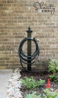Water Hose Holder For The Garden   DIY!