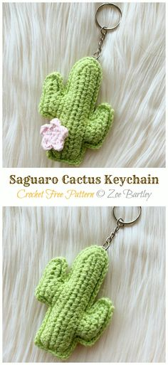 Amigurumi Mini Cactus Keychain Crochet Patterns – Crochet & Knitting – Famous Last Words Crochet Cactus Free Pattern, Crochet Keychain Pattern, Cute Crochet, Diy Crochet Cactus, Small Crochet Gifts, Crochet Animal Amigurumi, Amigurumi Patterns, Crochet Toys, Crochet Animals