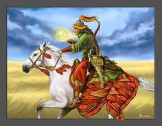 Kazakh spirit warrior