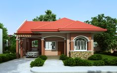 Small Bungalow House Design - Home Decoratings And DIY Beautiful Small Homes, Small House Architecture, Bungalow House Plans, Mediterranean Homes, House Design Trends, One Storey House, Bungalow House Design, Small Bungalow, House Design Pictures