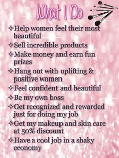 I'd love to share my success with you.  Contact Me: www.marykay.com/norapalmieri  norapalmieri@marykay.com