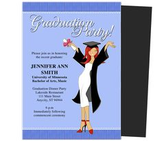 Graduation Party Invitations Templates: Commencement Graduation Party Announcement Template
