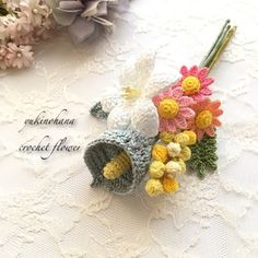 Crochet Fabric, Freeform Crochet, Cute Crochet, Knit Crochet, Crochet Bouquet, Crochet Flowers, Crochet Jewelry Patterns, Knitting, Crafts