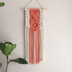 These beautiful modern macrame patterns are perfect for home decor crafters and DIY fans! Macrame is a trendy vintage revival that& making a huge comeback! Macrame Wall Hanger, Macrame Wall Hanging Patterns, Macrame Art, Macrame Projects, Macrame Patterns, Tapestry Wall Hanging, Wall Hangings, Macrame Dress, Macrame Curtain