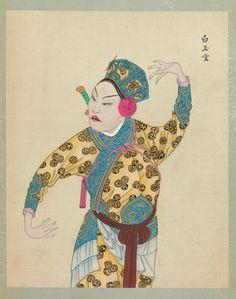 Peking Opera figure. Late 19th–early 20th century . Via metmuseum.org