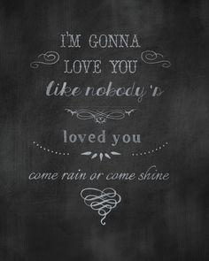 "Typography Art Print-Wall Art-Chalkboard Style ""I'm gonna love you"".."