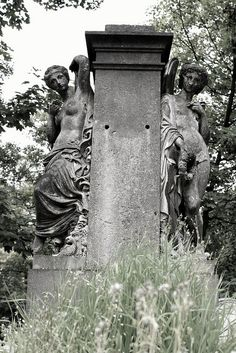 Pere Lachaise Cemetery in Paris, France..