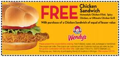 Wendy's: Buy One Chicken Sandwich, Get One FREE w/ Printable Coupon! (Exp 12/1) | SassyDealz.com
