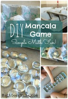 This DIY Mancala Game is fun and simple, and can be made in just a few minutes, with materials around the house. Plus, use it to teach important math facts!
