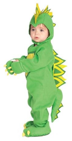 Let your little one pretend to be a prehistoric beastie in this Baby Dragon Dinosaur Costume! This is perfect for a caveman themed party. Baby Dragon Costume, Dinosaur Halloween Costume, Cute Baby Halloween Costumes, Baby Costumes For Boys, Toddler Costumes, Halloween Kostüm, Rex Costume, Infant Halloween, Lizard Costume