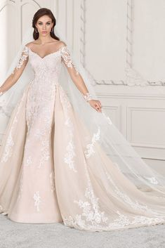 Wedding Dress Photos - Find the perfect wedding dress pictures and wedding gown photos at WeddingWire. Browse through thousands of photos of wedding dresses. Ombre Wedding Dress, Pink Wedding Dresses, Wedding Dresses Photos, Perfect Wedding Dress, Wedding Dress Styles, Bridal Dresses, Lace Wedding, Wedding Gowns, Wedding Dress For Short Women