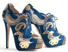 The Charlotte Olympia Orient Express Booties Boast Impressive Prints #shoes #footwear trendhunter.com