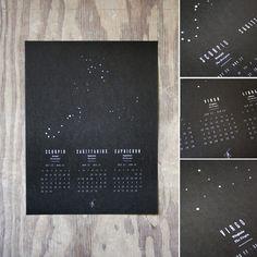 chelsey dyer, astrology wall calendar prints