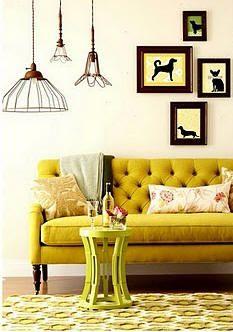 Intérieur moutarde   #jaune #yellow #moutarde #intérieur #livingroom #cadre #deco #sofa
