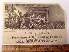 Vintage Trade Card: Henry Brady Elder Smiths Pipes Cigars New York Tobacciana