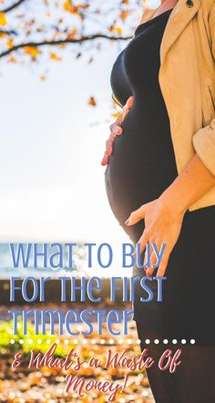 Just found out that you're pregnant? Here's what to buy in the first trimester and what to wait on! These are tried-and-true things that women trust!  #Pregnant #Pregnancy #FirstTrimester #HealthyPregnancy Trimesters Of Pregnancy, Pregnancy Workout, Pregnancy Countdown, Unexpected Pregnancy, Healthy Pregnancy Tips, Pregnancy Information, First Trimester, Infants, Pregnancy Photos
