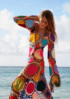 Dreamcatcher Maxi Multi Hand Crochet Dress