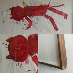 Pride and Joy Crimson cat by #RoseWylie